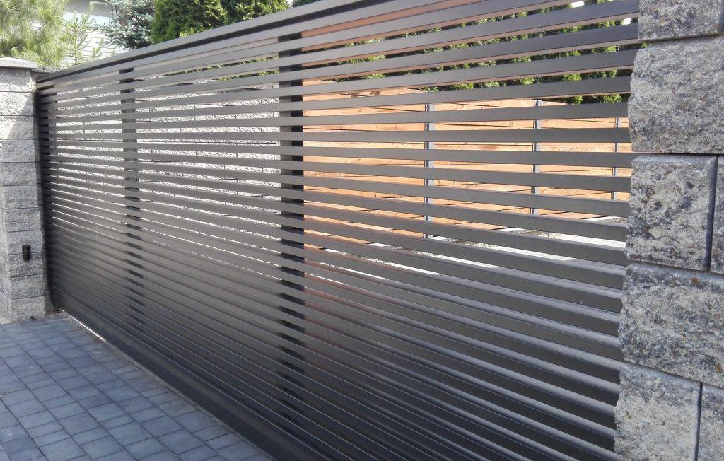 Nowoczesne ogrodzenia z aluminium. Model Linea.